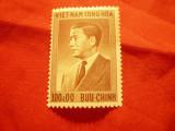 Timbru Vietnam Sud 1956 -Pres. Nigoh-Diem - dictator , val. 100 d ,sarniera, Nestampilat