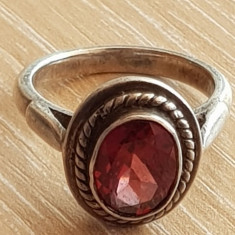 Inel argint - rubin - bijuterii unicat