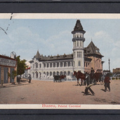 BUZAU  PALATUL COMUNAL   BERARIE AZUGA  IACOB BALINT TRASURI  CIRC.1917 FELDPOST