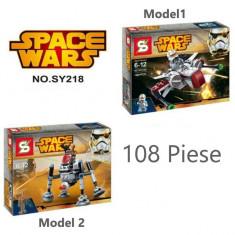 Joc creativ tip lego SpaceWars figurine 108 piese