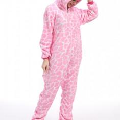 PJM148-5 Pijama pufoasa intreaga cu model unicorn