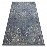 Covor Lână NAIN Rozetă vintage 7599/5091 albastru inchis / bej , 200x300 cm
