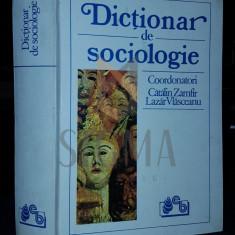 ZAMFIR CATALIN si VLASCEANU LAZAR (Coordonatori) - DICTIONAR DE SOCIOLOGIE, 1993, Bucuresti (Dedicatie si Autograf ILIE BADESCU catre PAUL ANGHEL !)