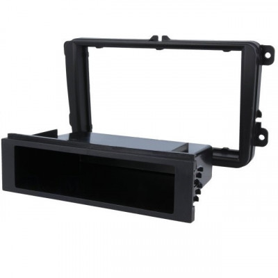 Cadru Radio, Rama adaptoare radio pentru Seat / Scoda / Volkswagen, negru foto