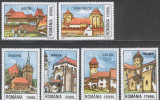 ROMANIA 2002 CETATI SASESTI IN TRANSILVANIA  Serie 6 val . LP1582 MNH**