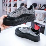 Pantofi sport dama negri cu talpa groasa Benore-rl