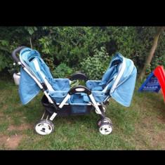 Carucior gemeni, Albastru, Baby Care