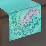 Cumpara ieftin Traversa masa Alba Velvet Verde Mint, 35 x 140 cm