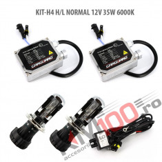 Set xenon H4 Bixenon NORMAL 12V 35W 6000K