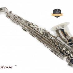 Saxofon ARGINTIU curbat ALT Cherrystone ALTO Saxophone Mib studiu NOU
