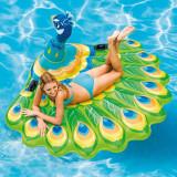 Saltea gonflabila pentru apa Soda Summer, model paun, 193x163x94 cm