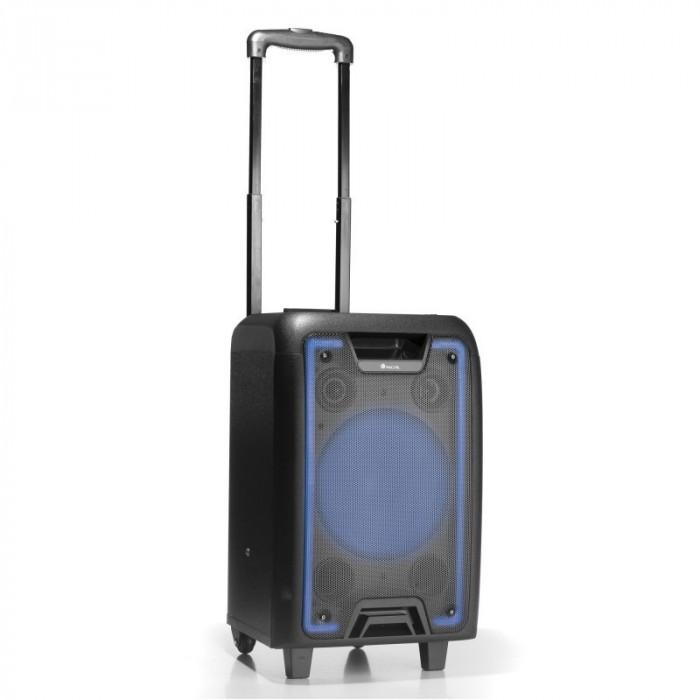 Boxa portabila bluetooth Wildmetal NGS, 120 W, USB, radio FM, 2 x intrare microfon