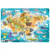 Puzzle cu rama - Eurasia (53 piese) PlayLearn Toys, Dodo