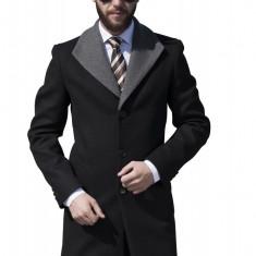 Palton Barbati Smart Casual din Lana B153 Negru