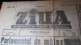 ziarul ziua 1 septembrie 1944 anul 1,nr.1-romania a semnat armistitiul-23 august