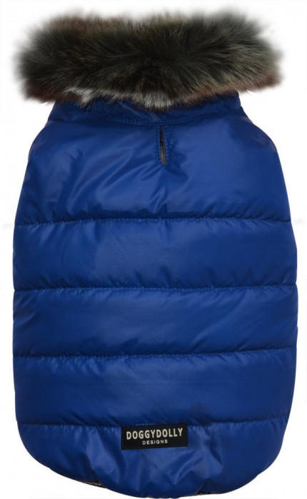 Geaca captusita cu guler-albastra-Doggydolly-W388 (Marime: S)