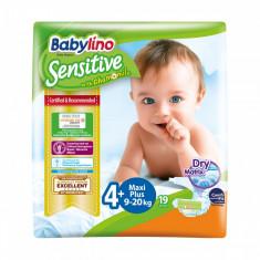 Scutece Babylino Sensitive, N4+, 9-20 kg, 19 Buc.