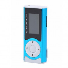 Mini MP3 Player cu radio, display LCD, functie lanterna, casti incluse, Orient