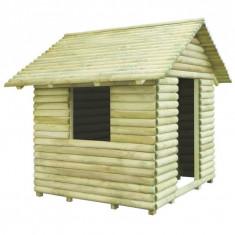 Căsuță de joacă din lemn de pin tratat 167x150x151 cm