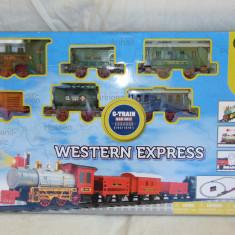 Trenulet/locomotiva jucarie cu sine si gara,sunete si lumini,nou