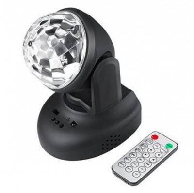 Proiector rotativ LED disco RGB, telecomanda, MP3, USB foto