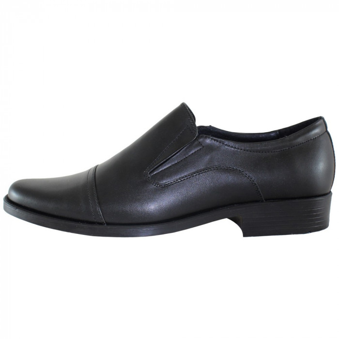 Pantofi eleganti barbati piele naturala - Pieton negru - Marimea 42