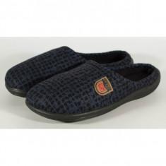 Papuci de casa bleumarin cu negru din plus - 12675