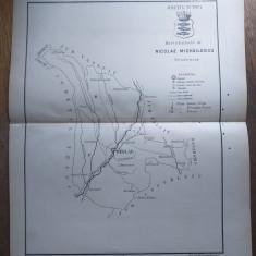 JUDETUL TUTOVA  // HARTA CROMOLITOGRAFIATA, 1904