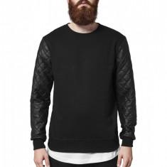 Bluza cu maneci piele ecologica barbati Urban Classics XL EU
