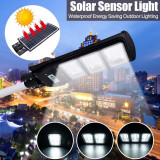 Corp Iluminat Stradal LED 60W alb rece cu Panou Solar Senzor miscare