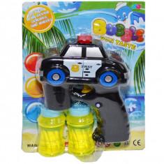 Jucarie baloane de sapun + masina politie, baterii