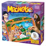 Joc magnetic Sa construim scene Alba ca Zapada 63663, D-Toys