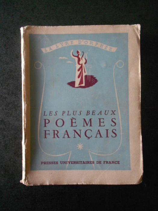 LA LYRE D'ORPHEE. LES PLUS BEAUX POEMES FRANCAIS (1946)