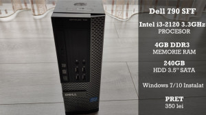 Calculator Dell Optiplex 790 Intel i3-2120 4GB RAM 240 GB Windows 7/10
