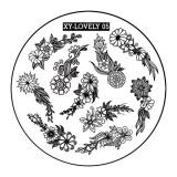 Cumpara ieftin Matrita Metalica Stampila Unghii XY-LOVELY05 - Nature