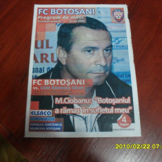 program       FC  Botosani  -  CSM  Ramnicu  sarat