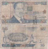 1995 (1 VII), 20 shillings (P-32) - Kenya
