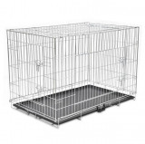 Cumpara ieftin Cușcă pentru câini pliabilă, metal, XXL