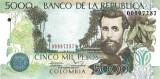 COLUMBIA █ bancnota █ 5000 Pesos █ 2014 █ P-452 █ UNC █ necirculata