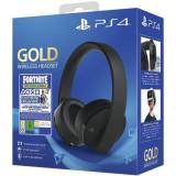 Casti gaming Sony Playstation Gold Wireless Stereo Fortnite Neo Versa bundle PS4/PC/Switch
