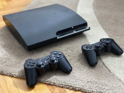 Consola Playstation 3 Slim Modat 120 GB cu 13 jocuri GTA 5 FIFA 19 PS3 foto