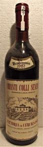 A57 - VIN CHIANTI COLLI SENESI, DOC, recoltare 1982 cl 75 gr 12