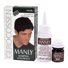 Manly sampon colorant barbati negru, 25 ml, Gerocossen