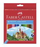 Creioane Colorate Eco Faber-Castell, 48 culori