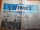 ziarul viitorul 18 aprilie 1990-radu campeanu candidat la presidentie