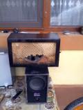 Carcasa lemn si mecanism radio vechi de epoca