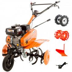 Motosapa Ruris DAC 7000 ACC2 7 CP 208 CC Roti cauciuc + Plug + Roti metalice Portocaliu