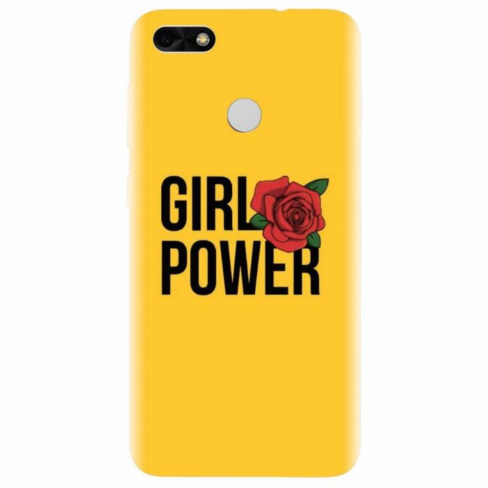 Husa silicon pentru Huawei P9 Lite mini, Girl Power