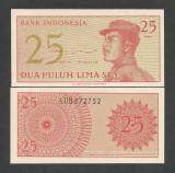 INDONESIA INDONEZIA 25 SEN 1964 UNC [1] P- 93 a , necirculata