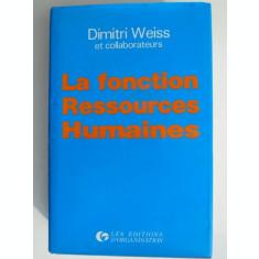La fonction Ressources Humaines - Dimitri Weiss